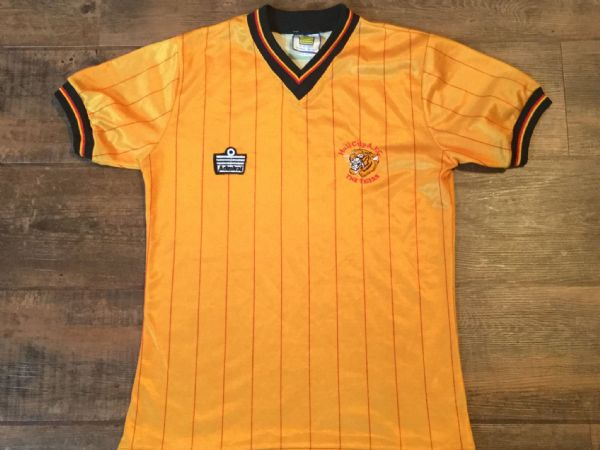 1982 1983 Hull City Home Football Shirt Top Adults Small 1980s Jersey